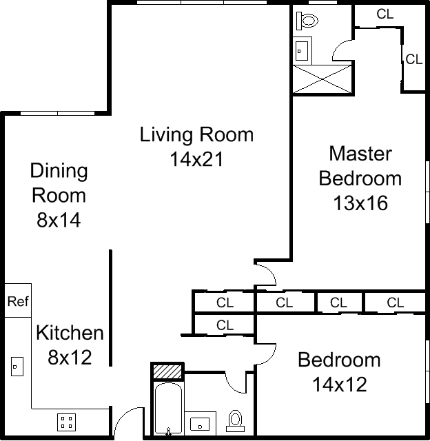 Floor plans on 2 bedroom condo plans