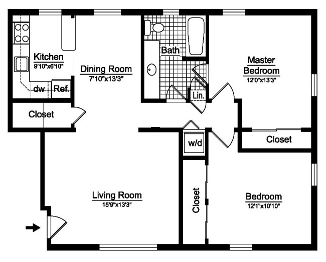 2 Bedroom 1 Bath Floor Plans 28 Images 36sixty Floor